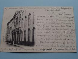 Pensionnat Des Dames De L'Instruction Chrétienne, Longue Rue Neuve / Façade Extérieure ( A. Meslin ) Anno 1902 ! - Antwerpen