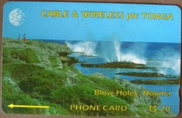 Tonga - TON-03, GPT, 1CTGC, Blow Holes, Houma, Coastal Areas, 5,000ex, 1994, Used - Tonga
