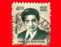 INDIA  - Usato - 2016 - Creatori Dell'India - Srinivasa Ramanujan (1887-1920), Matematico - 4 - India