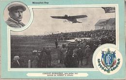 """Circuit Européen En 1911  -  Arrivée De L'Aviateur """" GILBERT """" à UTRECHT (Pays-Bas) - Monoplan """" REP """" - Airmen, Fliers"""