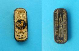 BRAUSE - FEDER ( Brause & Co. Iserlohn ) .... Original Vintage Small Tin Box * Germany Deutschland - Boxes
