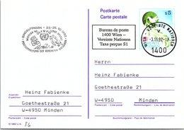 VEREINTE NATIONEN - ENTIER POSTAL S5 - MOTIVA'92 OLYMPIA UND SPORT SINDELFINGEN 23-25.10.1992 /2- 84 - Centre International De Vienne