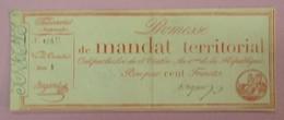 Promesse De Mandat Territorial - Bon Pour 100 Francs, Impression Rouge, Série 8, Lafaurie N°201 - Assignats & Mandats Territoriaux