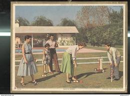 Calendrier 1961 Almanach Des P.T.T - Partie De Croquet - Côte D'Or - Calendriers