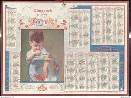 Calendrier 1963 Almanach Des P.T.T - C'est Vraiment Trop Tentant - Côte D'Or - Grand Format : 1961-70