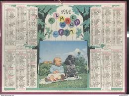 Calendrier 1962 Almanach Des P.T.T - Le Fidèle Gardien - Côte D'Or - Grand Format : 1961-70