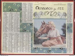 Calendrier 1960 Almanach Des P.T.T - Mon Compagnon - Côte D'Or - Calendriers