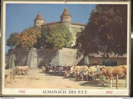 Calendrier 1962 Almanach Des P.T.T - Marché Aux Bestiaux - Grand Format : 1961-70