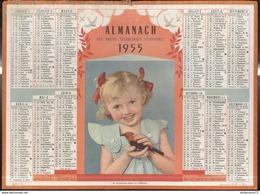 Calendrier 1955 Almanach Des P.T.T - Je Voudrais Bien Le Garder - 21 Côte D'Or - Kalender