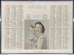 Calendrier 1955 Almanach Des P.T.T - Son Plus Beau Trésor - 21 Côte D'Or - Kalender