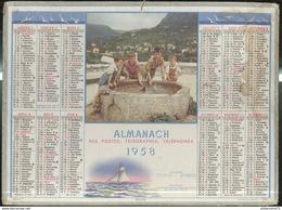 Calendrier 1958 Almanach Des P.T.T - Régates - 21 Côte D'Or - Kalender