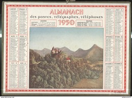 Calendrier 1950 Almanach Des P.T.T - Chateau De Menthon 74 - 21 Côte D'Or - Calendriers