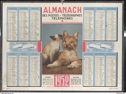 Calendrier 1952 Almanach Des P.T.T - 21 Côte D'Or - Calendriers