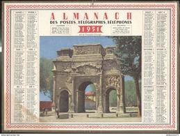 Calendrier 1951 Almanach Des P.T.T - Arc De Triomphe D'Orange - 21 Côte D'Or - Calendriers