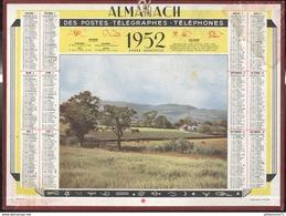 Calendrier 1952 Almanach Des P.T.T - Côte D'Or - Calendriers