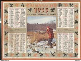 Calendrier 1957 Almanach Des P.T.T - Le Dernier Regard ( Chasse )  - Côte D'Or - Grossformat : 1941-60