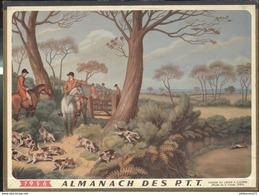 Calendrier 1956 Almanach Des P.T.T - Chasse à Courre - Côte D'Or - Calendriers