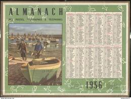 Calendrier 1956 Almanach Des P.T.T - Ile D'Oléron - Côte D'Or - Calendriers