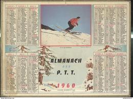 Calendrier 1960 Almanach Des P.T.T - Style De Champion - 21 Côte D'Or - Calendriers