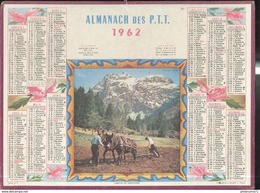 Calendrier 1962 Almanach Des P.T.T - Labour De Printemps - 21 Côte D'Or - Grossformat : 1941-60