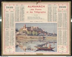 Calendrier 1938 Almanach Des Postes Et Des Télégraphes - Rennes - 21 Côte D'Or - Calendriers