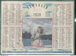 Calendrier 1959 Almanach Des Postes Et Des Télégraphes - Son Premier Bateau - 21 Côte D'Or - Calendriers