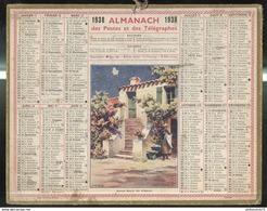 Calendrier 1938 Almanach Des Postes Et Des Télégraphes - Ile D'Oléron - 21 Côte D'Or - Calendriers