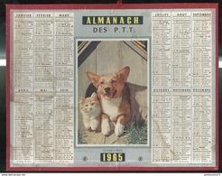 Calendrier 1965 Almanach Des Postes Et Des Télégraphes - Cohabitation - 21 Côte D'Or - Grand Format : 1961-70