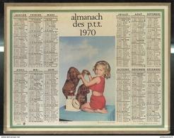 Calendrier 1970 Almanach Des Postes Et Des Télégraphes - La Pesée - 21 Côte D'Or - Grand Format : 1961-70
