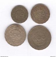 Lot 4 Monnaies 100 , 200 , 300 , 400 Réis Brésil / Brazil 1942 Vargas - TTB - Brésil