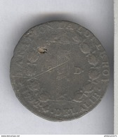 12 Deniers France 1792 An 4 D. Dijon - Métal De Cloche - TTB - 1789-1795 Monnaies Constitutionnelles