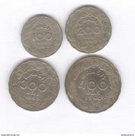 Lot 4 Monnaies 100 , 200 , 300 , 400 Réis Brésil / Brazil 1940 Vargas - TTB - Brésil
