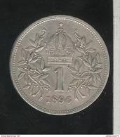 1 Couronne Autriche / Austria 1896 - TTB+ - Austria