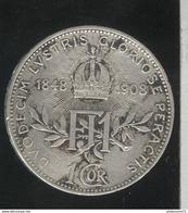 1 Couronne Autriche / Austria 1908 - Commémo 60 Ans De Règne - TTB - Austria