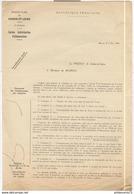 Circulaire Du Préfet Aux Maires - Catégories De Consommateurs Pour Les Cartes D'alimentation - 7 Mai 1940 - Dokumente