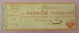 Promesse De Mandat Territorial - Bon Pour 100 Francs, Impression Rouge, Série 30, Lafaurie N°201 - Assignats & Mandats Territoriaux