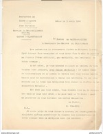 Circulaire Du Préfet Aux Maires - Recensement En Vue D'attribution Des Cartes D'alimentation - 3 Avril 1940 - Dokumente