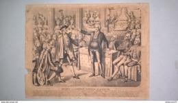 Lithographie 19ème - Mirabeau à L'Assemblée Le 25 Juin 1789 - Ed. Bernasconi Lyon - Litho Burckardt Wissembourg - Lithographies