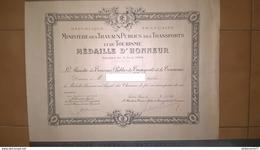 Diplôme Médaille D'Honneur En Argent Des Chemins De Fer - 1959 - Dokumente