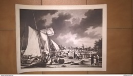Lot De Reproduction De Gravures Anciennes - Magellan - Port De Caen 1800 - Poupe Du Vaisseau Le Bizzare - Prenten & Gravure
