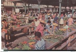 CPSM Guadeloupe - Pointe à Pitre - Le Marché - Circulée - Antilles