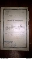 Certificat De Bonne Conduite - 48ème Régiment D'Artillerie De Campagne - 1912 - Dokumente