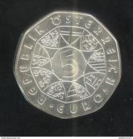 5 Euros Autriche Argent 2004 - Élargissement De L'Union Européenne De 2004 - SUP - Austria