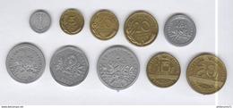 Lot Monnaies France Francs Avant L'euro En Plastique - Exonumia - Monnaies Scolaires Ou De Jeu ? - France
