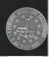 1 Ecu Draguignan - 40ème Foire De L'Olive - 1993 - Euros Of The Cities