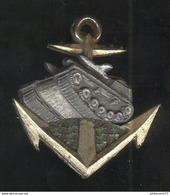 Insigne à Identifier - Chars De Marine ? - Ancre Char Sapins ? - Army & War