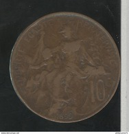 10 Centimes France 1899 TB+ - France