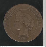 10 Centimes France 1879 A TTB+ - France