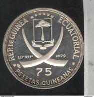 75 Pesetas Guinée Equatoriale 1970 Proof - Pape Jean XXIII - Guinée Equatoriale
