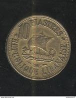 10 Piastres Liban / Lebanon 1955 TTB - Libano